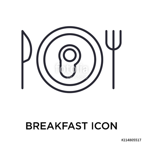500x500 Breakfast Icon Vector Sign And Symbol Isolated On White Background