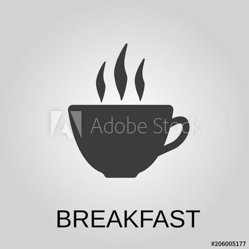 500x500 Breakfast Icon. Breakfast Symbol. Flat Design. Stock
