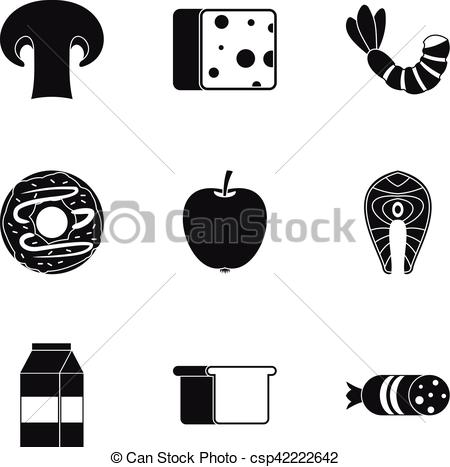450x467 Breakfast Icons Set, Simple Style. Breakfast Icons Set. Simple