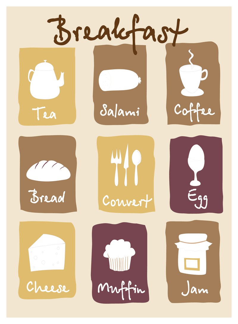 800x1089 Breakfast Lovely Icon Vector