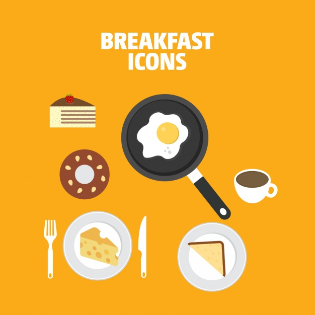 626x626 Coloured Breakfast Icons Collection Vector Free Download