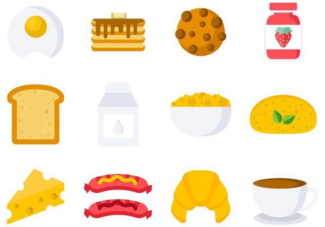 632x443 Free Breakfast Icons Vector Free Vector Download 407885 Cannypic