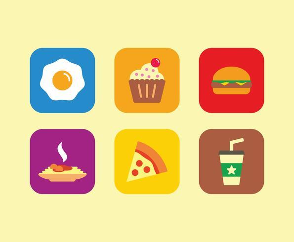 595x490 Breakfast Icons Vector