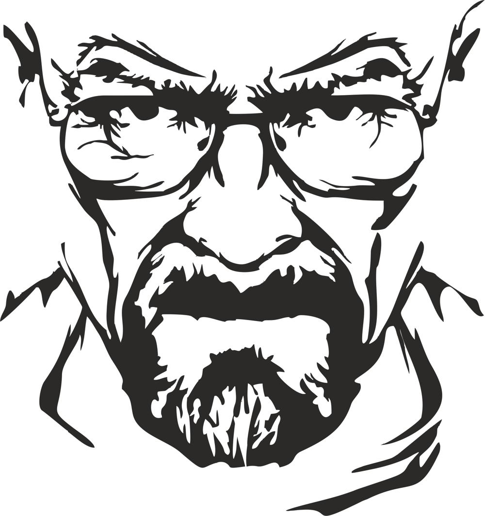 1000x1064 Breaking Bad Heisenberg Vector Free Vector Download