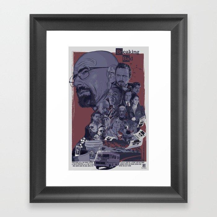 700x700 Breaking Bad Poster Vector Art Framed Art Print By Eliudrivera