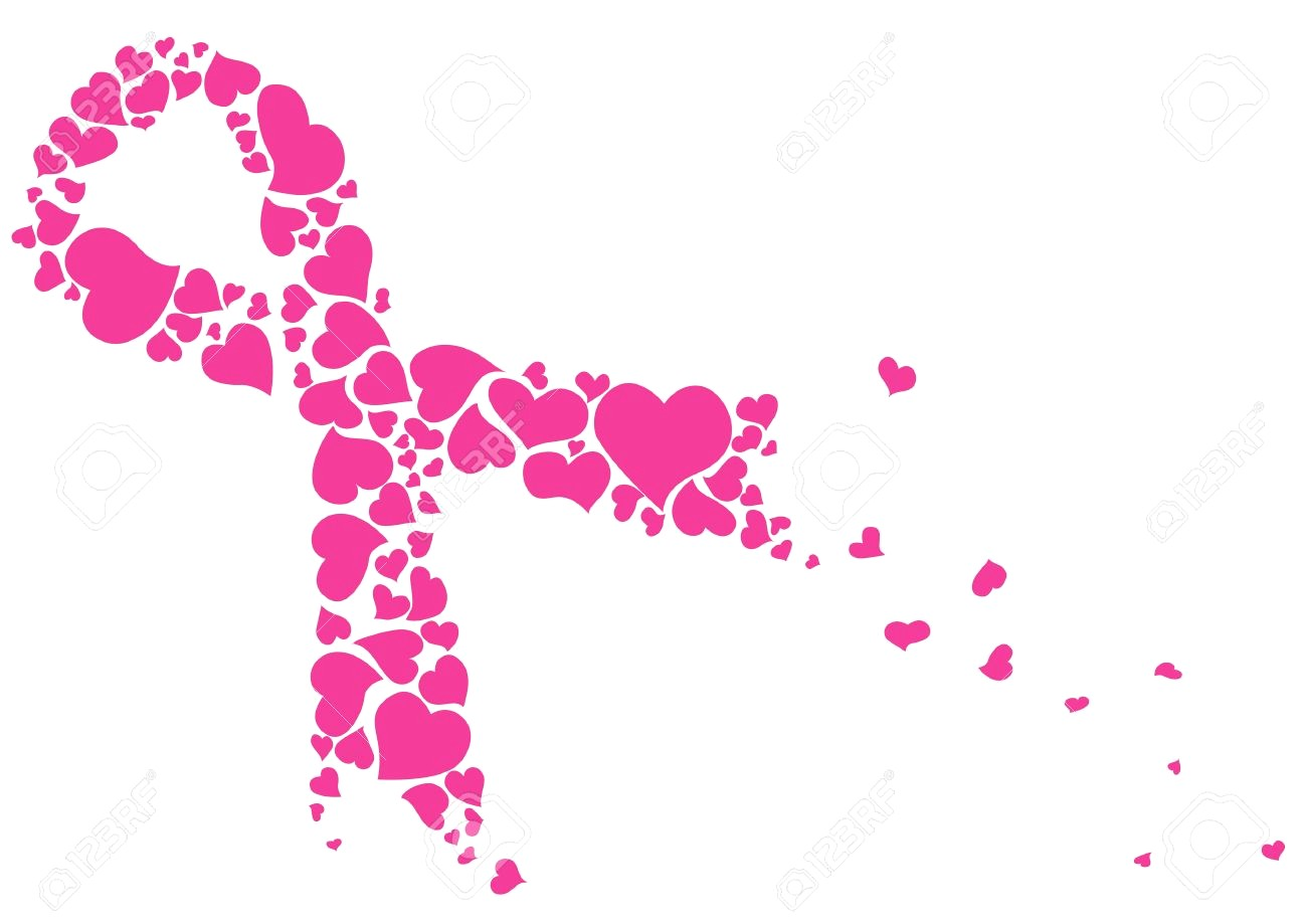 1300x919 47317358 Pink Ribbon Made Of Hearts Vector Breast Cancer Awareness
