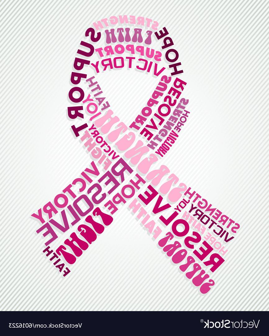 866x1080 Hd Breast Cancer Awareness Pink Ribbon Text Collage Vector Library