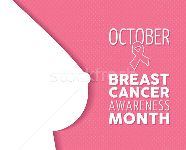 600x483 Breast Cancer Awareness Poster Woman Silhouette Vector