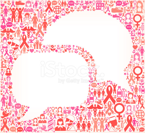 479x440 Chatbubbles Breast Cancer Awareness Royalty Free Vector Art Stock