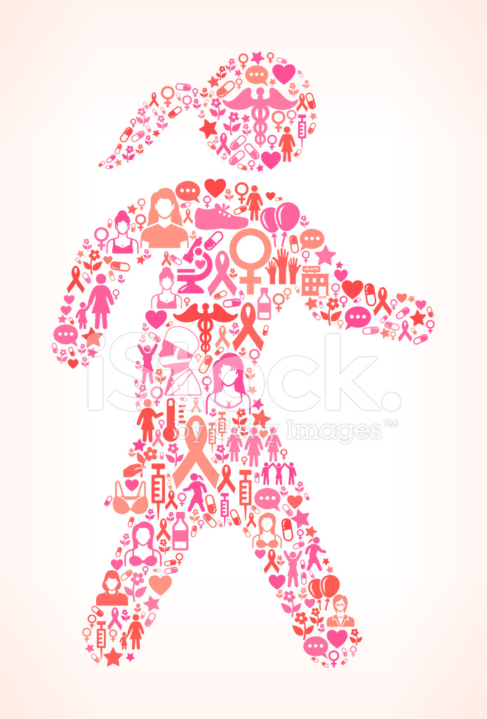 694x1024 Woman Walk For Breast Cancer Awareness Vector Interface Icon Pat