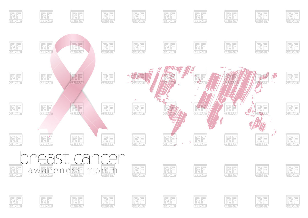 1200x849 Breast Cancer Awareness Pink Ribbon Background Vector Image