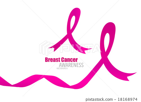 450x326 Breast Cancer Awareness Pink Ribbon. Vector Illustration.