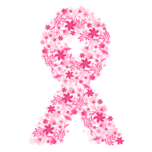512x512 Breast Cancer Flowers Ribbon