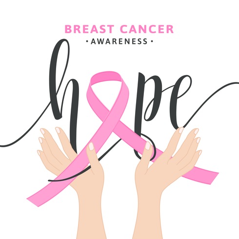 490x490 Pink Breast Cancer Awareness Ribbon Vector Concept