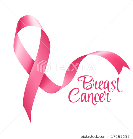 450x468 Breast Cancer Awareness Ribbon Background. Vector