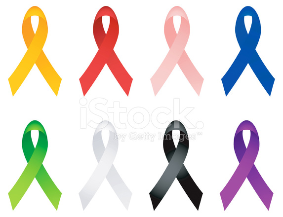 573x440 Breast Cancer Ribbon, Aids, Autism Ribbons Royalty Free Vector I