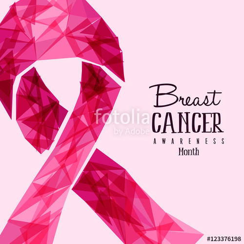 500x500 Breast Cancer Awareness Pink Ribbon Stock Image And Royalty Free
