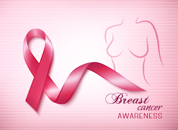 604x442 Breast Cancer Awareness Advertising Posters Pink Styles Vector 01