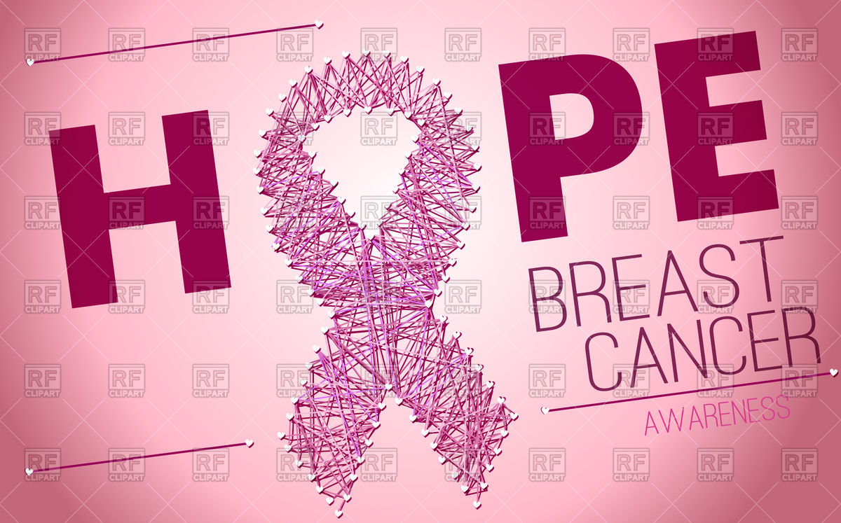 1200x747 Breast Cancer Pink Ribbon Background Vector Image Vector Artwork