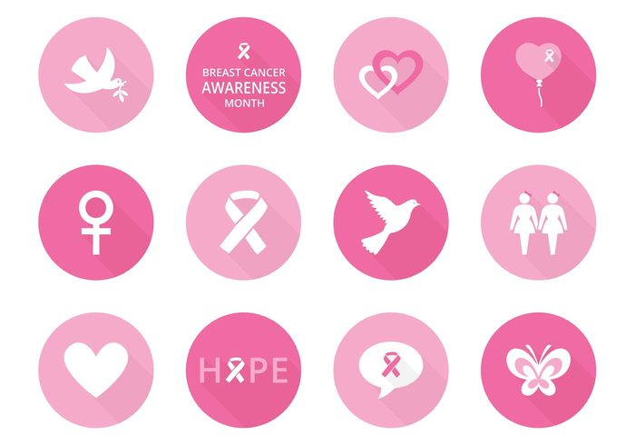 700x490 Free Breast Cancer Awareness Vector Icons 148114