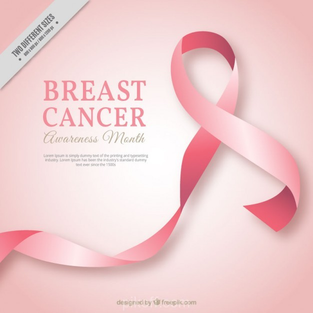 626x626 Ai] Pink Ribbon Background Of Breast Cancer Vector Free Download