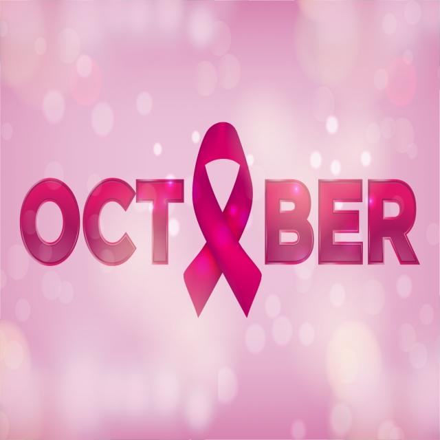 640x640 Realistic Pink Ribbon, Breast Cancer Awareness Symbol, Vector