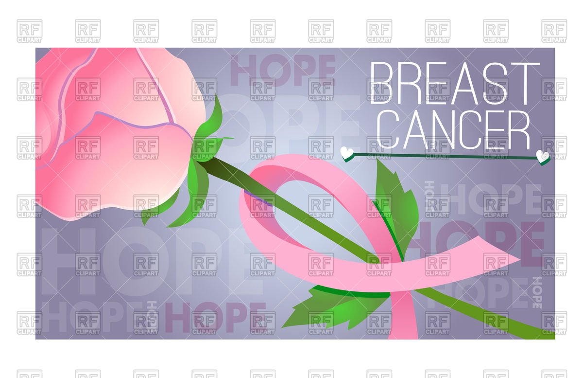 1200x777 Banner On Breast Cancer Awareness Pink Ribbon Vector Image