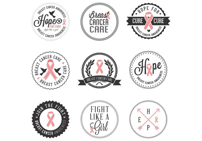 700x490 Breast Cancer Awareness Badges