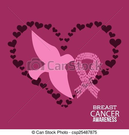 450x470 Breast Cancer Design, Vector Illustration. Breast Cancer