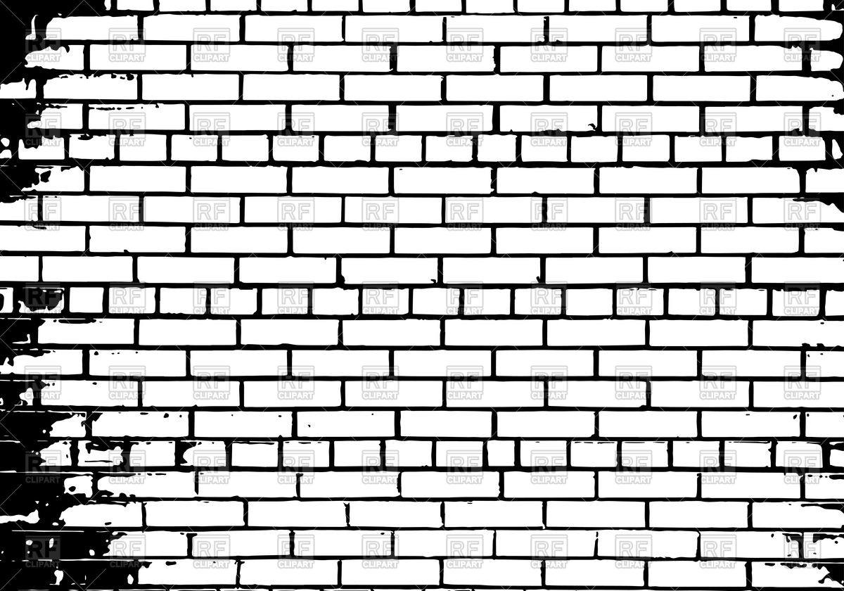 1200x840 Grunge White And Black Brick Wall Background Vector Image Vector