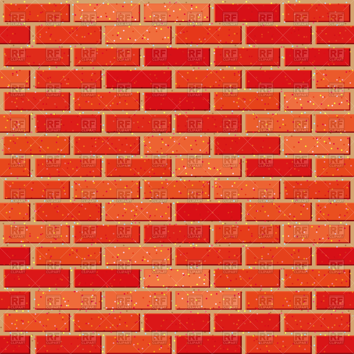 1200x1200 Red Brick Seamless Background Vector Image Vector Artwork Of