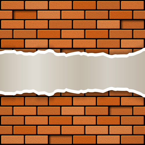 500x500 Red Brick Wall Backgrounds Vectors 05 Free Download
