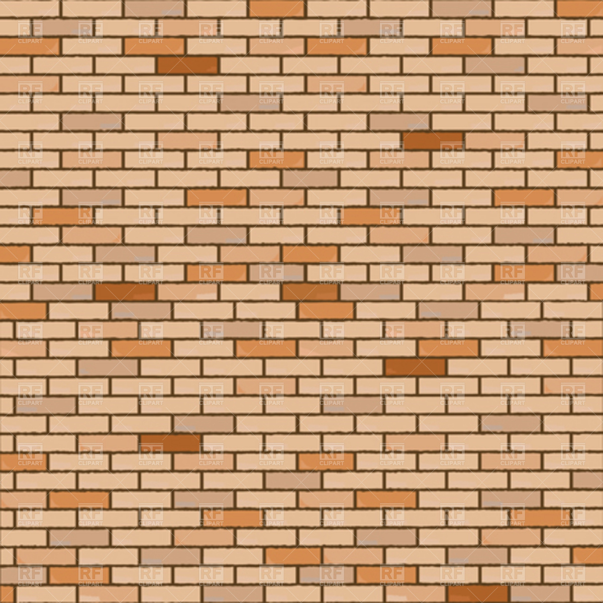 1200x1200 Wall Made Of Bricks Vector Image Vector Artwork Of Backgrounds
