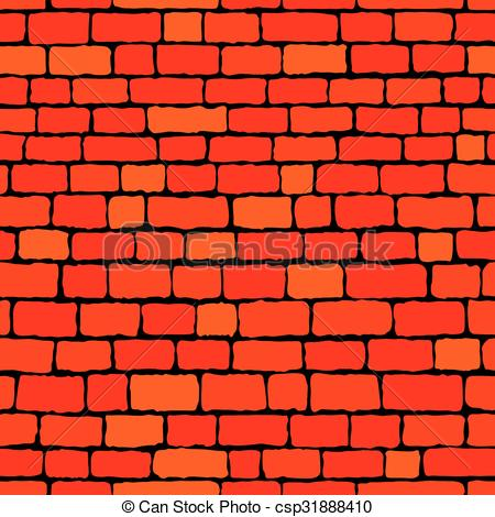 450x470 Brick Wall Background. Red Brick Wall Seamless Background. Vector