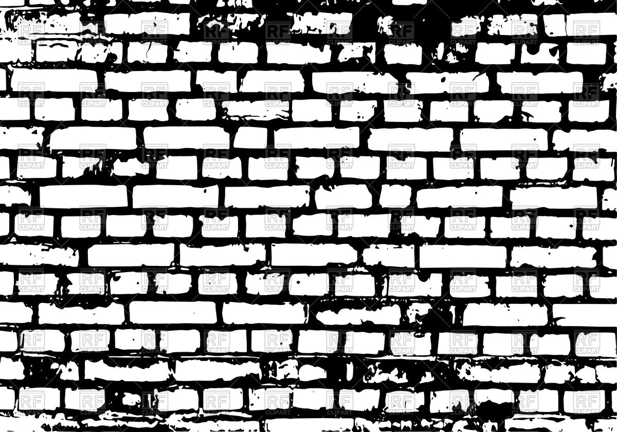 1200x840 Brick Wall Black Background Vector Image Vector Artwork Of