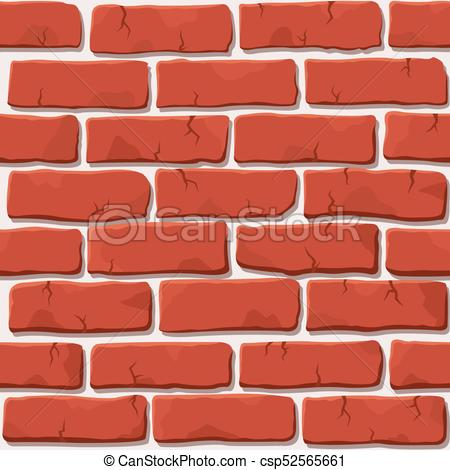 450x470 Red Brick Wall Texture. Nice Vector Red Brick Wall Seamless Square