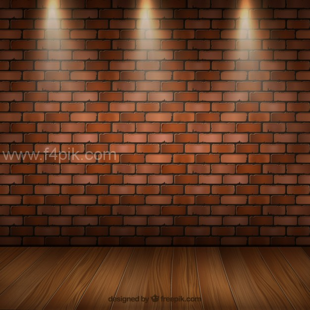 626x626 Vector ] Room Interior With Parquet And Brick Wall Free Download