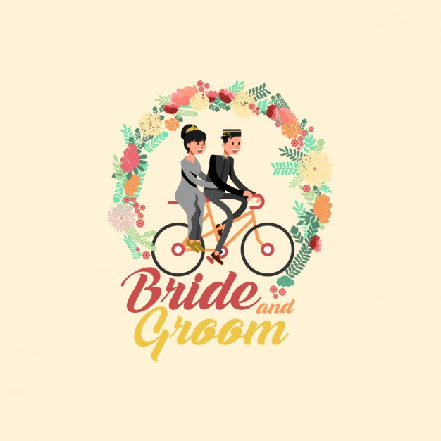 626x626 Bride And Groom Vector Free Download