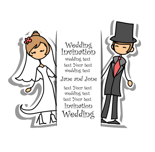 500x490 Bride With Groom Design Vector 03 Free Download