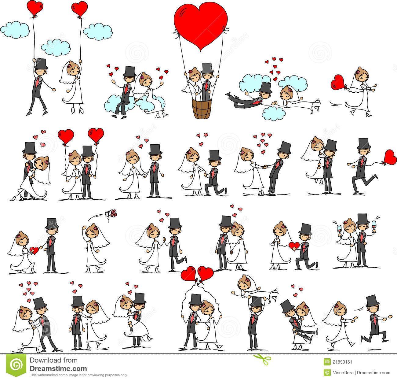 1300x1246 Download Lovely Wedding Bride Groom Vector Cartoon Vector Via