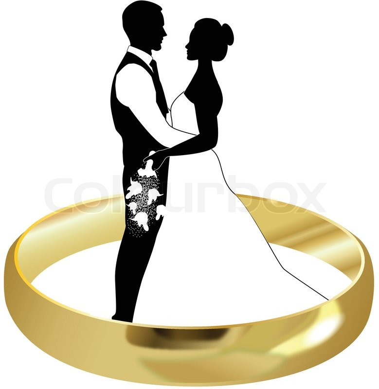 779x800 Ring Bride And Groom Stock Vector Colourbox