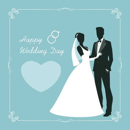500x500 Beautiful Bride And Groom Vector Set 02 Free Download