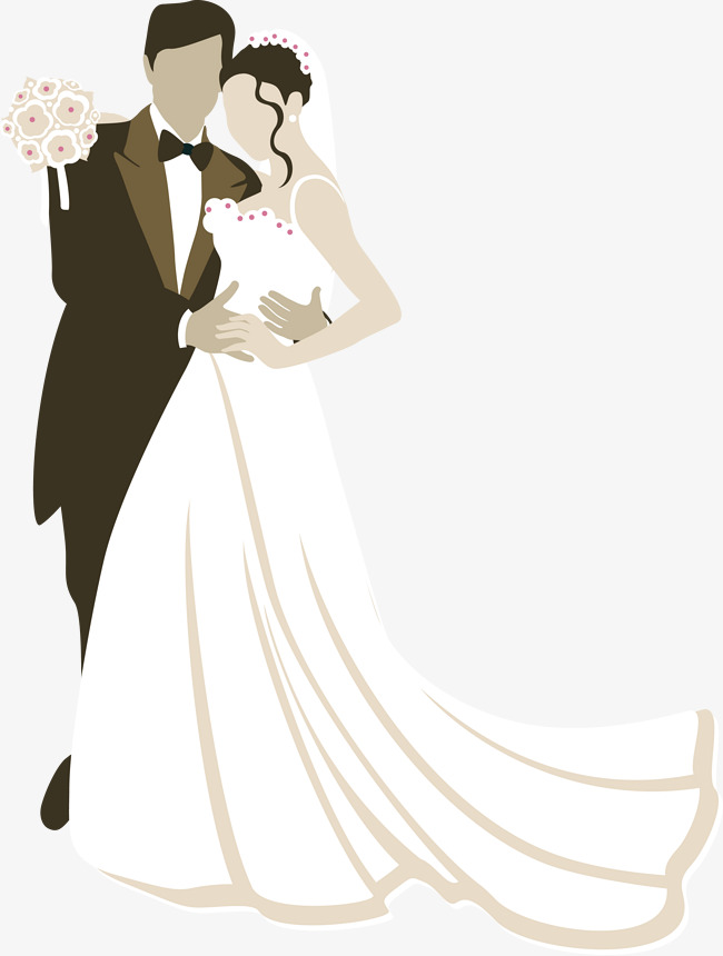 650x860 Vector Bride And Groom, Character, Bride, Bridegroom Png And