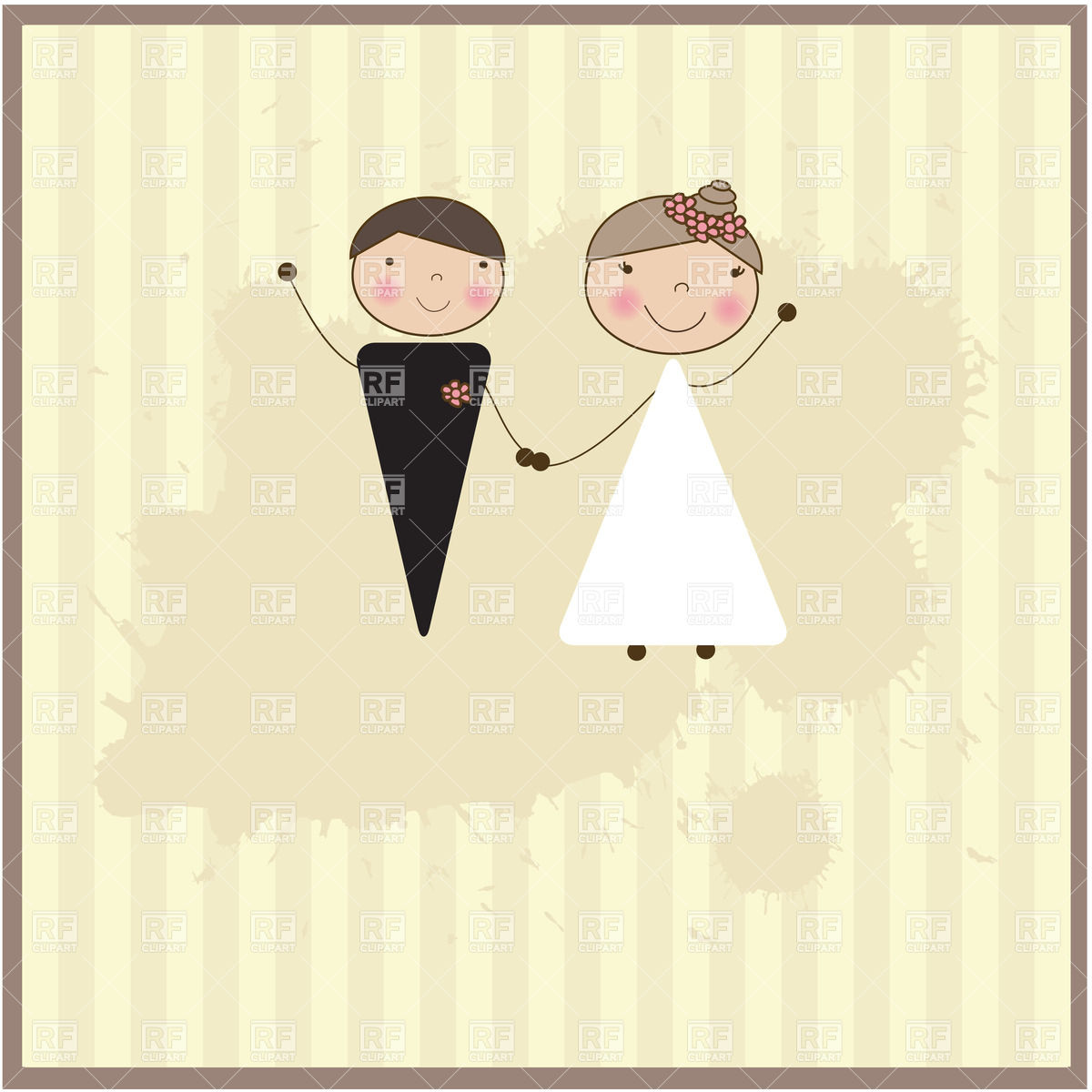 Bride Groom Vector