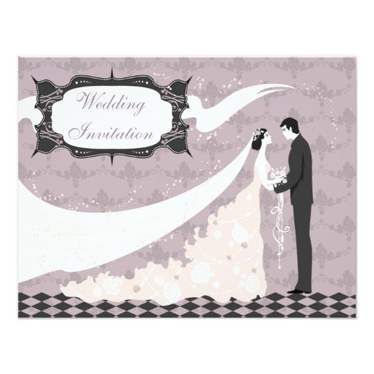 540x540 Elegant Bride Amp Groom Vector Wedding Invitation