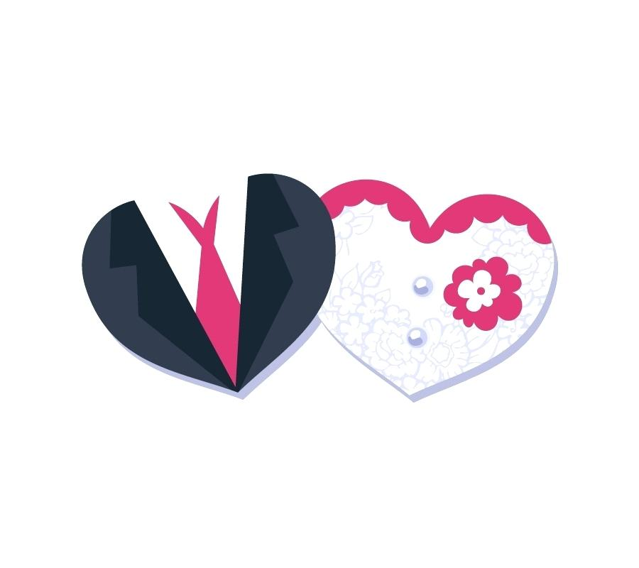 900x800 Heart Shaped Wedding Card Designs Invitation Template And Bride