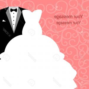 300x300 Photostock Vector Wedding Card With The Clothes Of The Bride And