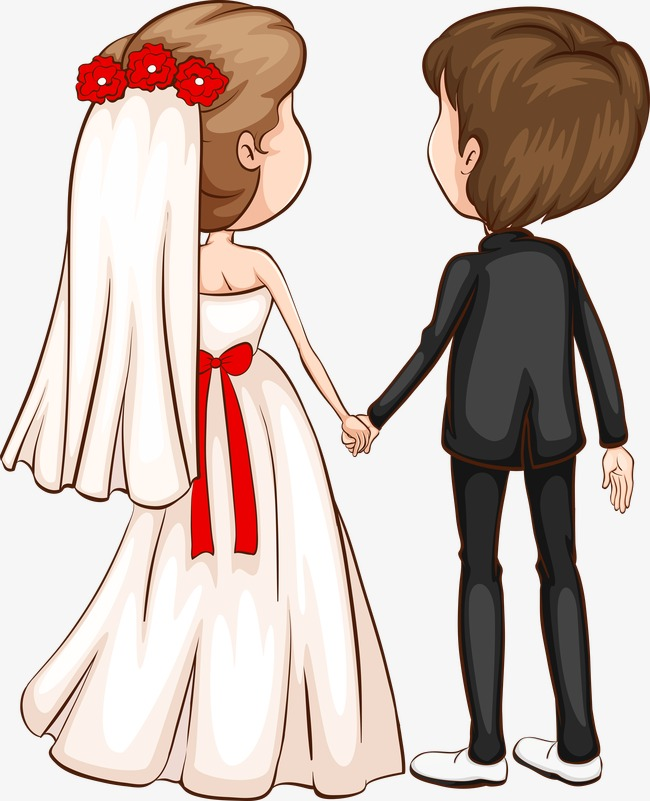 650x801 The Bride And Groom Back, Bride, Bridegroom, Vector Png And Vector