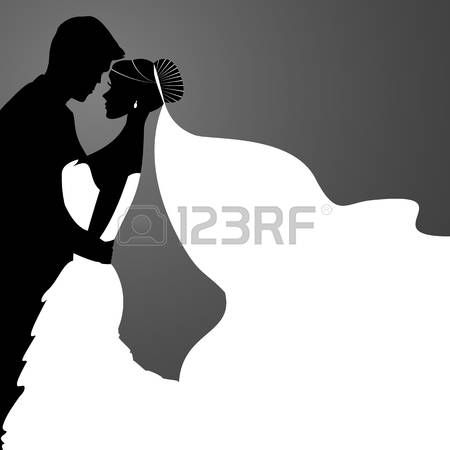 450x450 Bride Groom Bride And Groom. Vector Couples Silhouette For