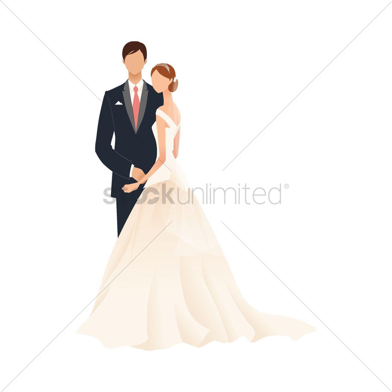 1300x1300 Bride And Bridegroom Vector Image